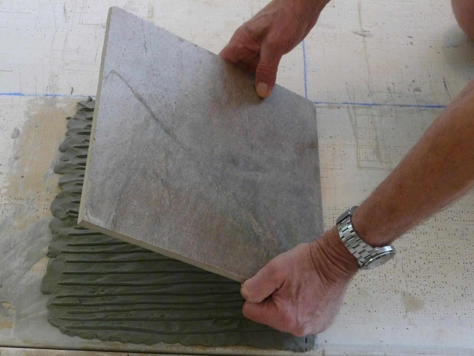 Installing a Slate Foor Tile
