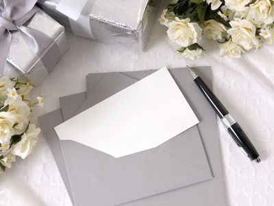 Wedding gifts with writing paper