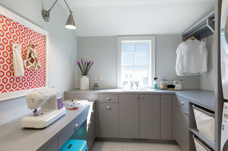 Laundry room that doubles as sewing room