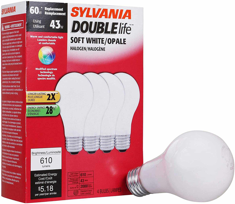 60-Watt Equivalent Halogen Light Bulb