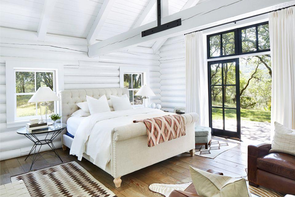 light airy log cabin