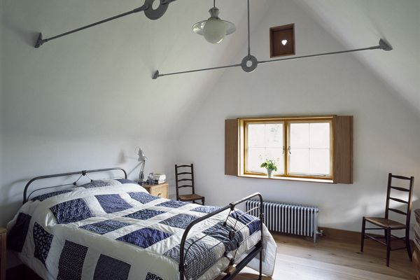Attic bedroom in a cottage extension in Norfolk