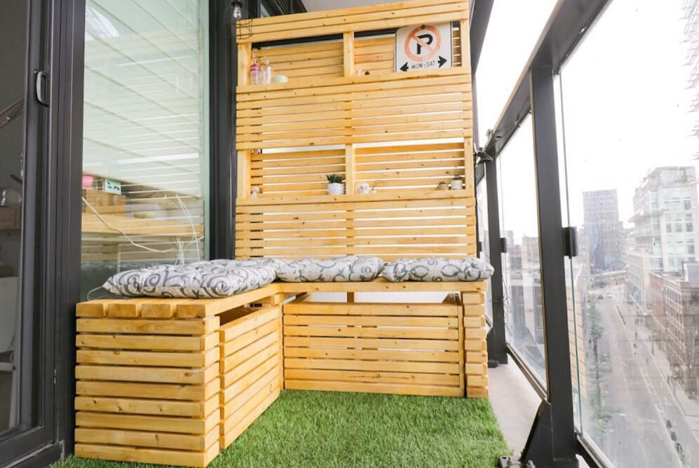 Modern DIY balcony furniture
