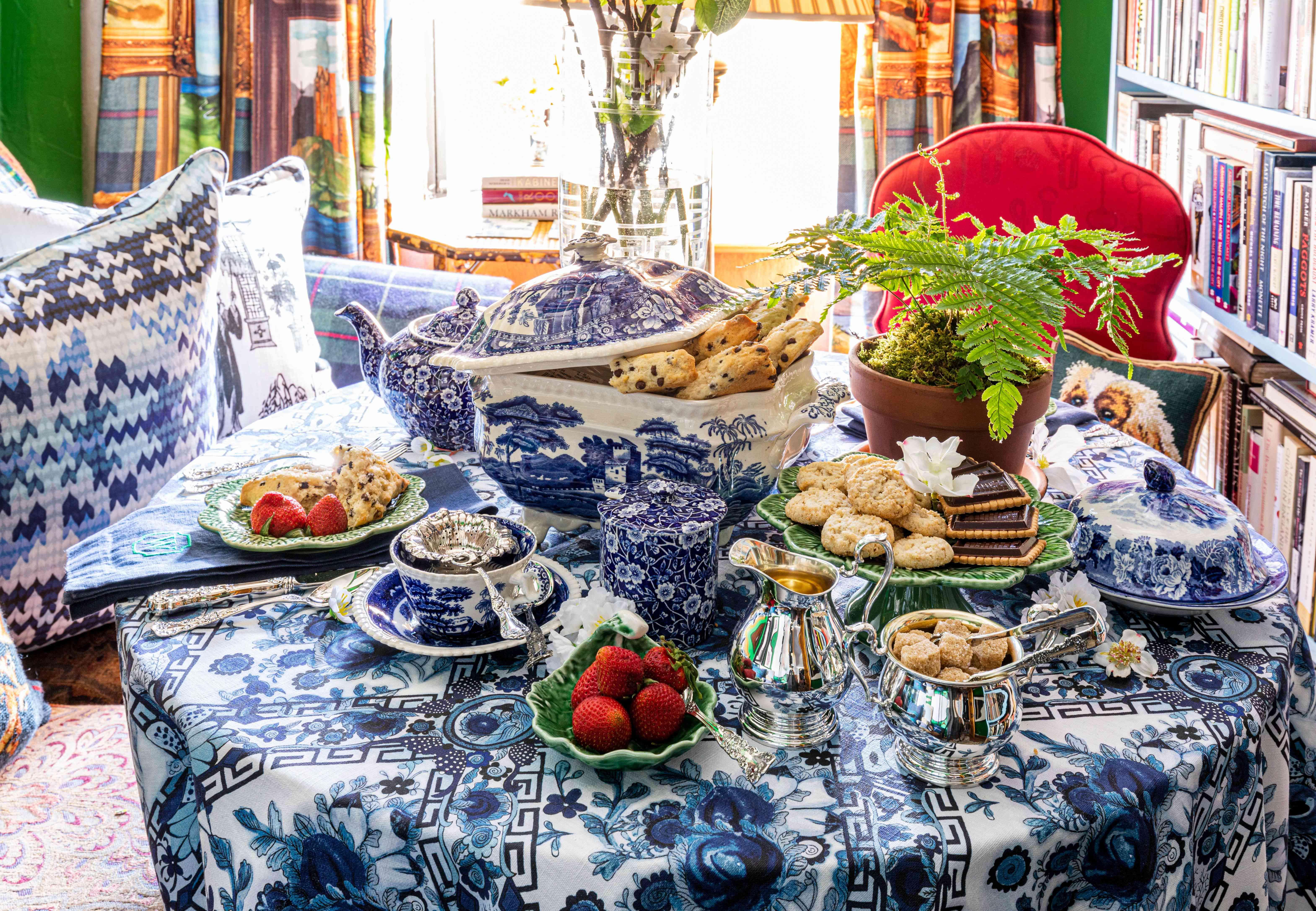 tea party in apartment