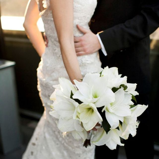 Amaryllis Winter Wedding Bouquet