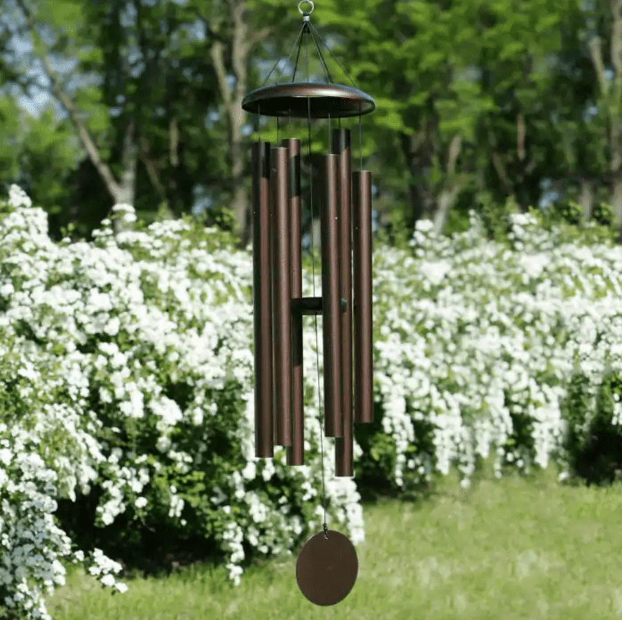 butterfly sun catcher watering can wind chime repurposed white garden decor WHIMSICAL WIND-SONG upcycle