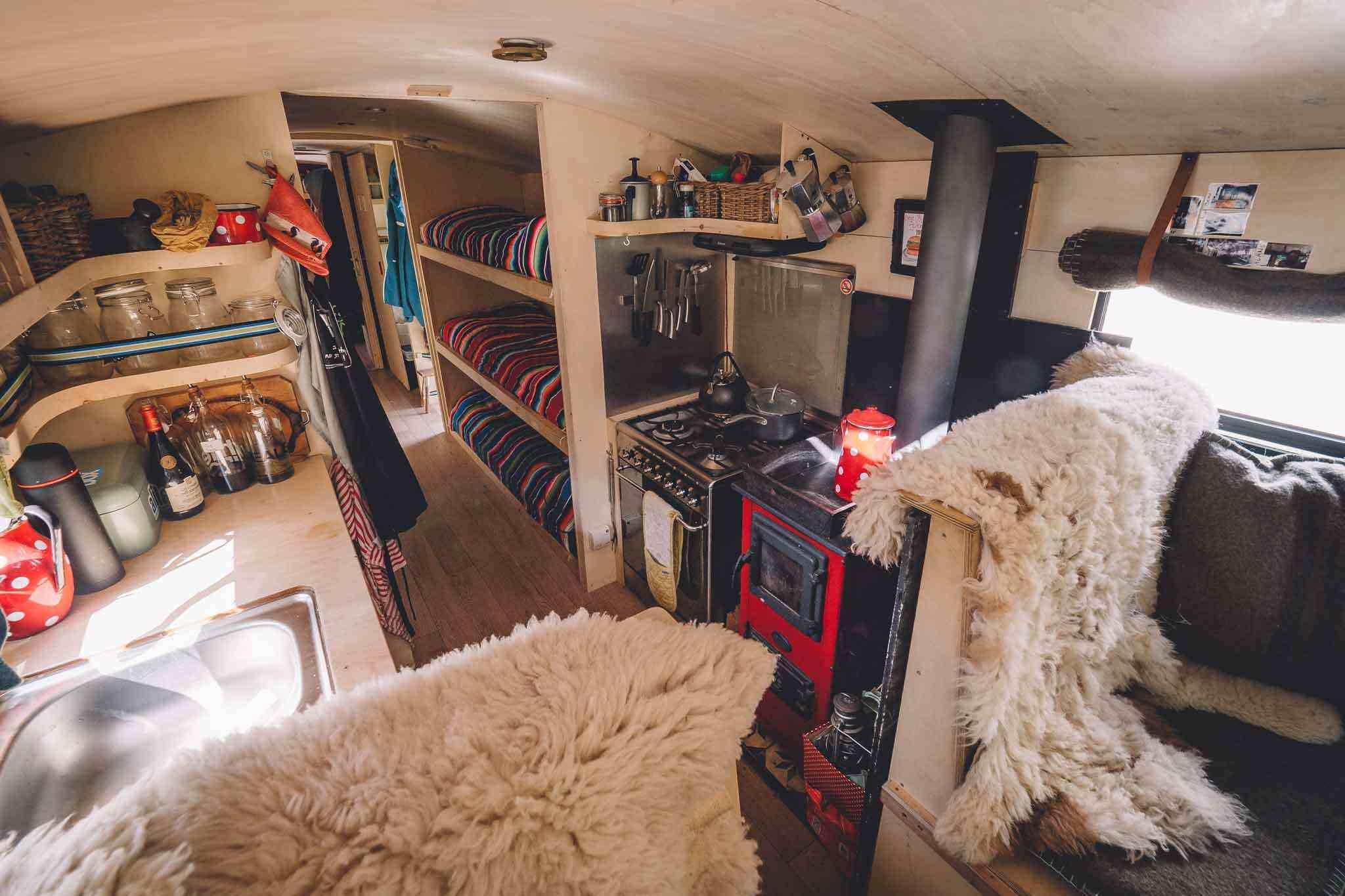 nomad bus kitchen