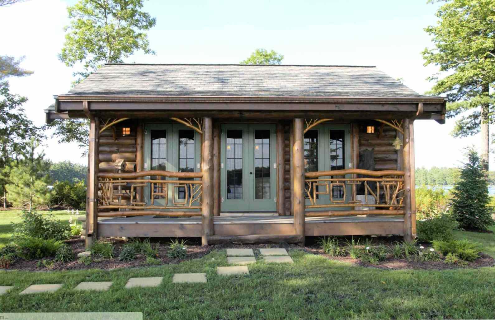 small log home