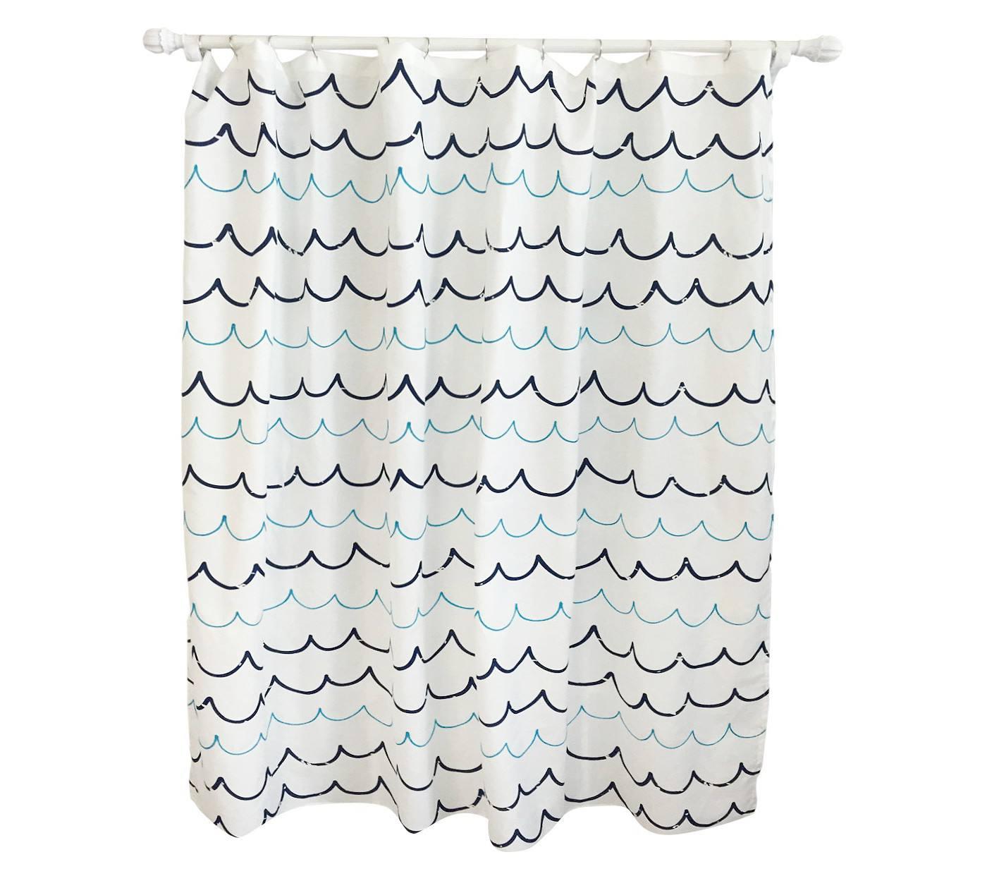 Best For Kids Pillowfort Wave Blue Shower Curtain