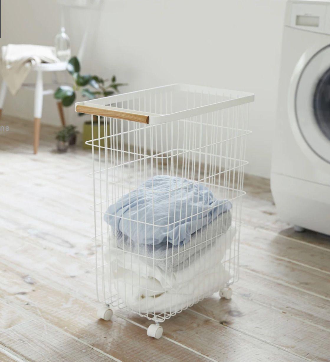 Slim Rolling Laundry Basket