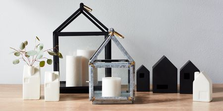 house shaped candle holders from target