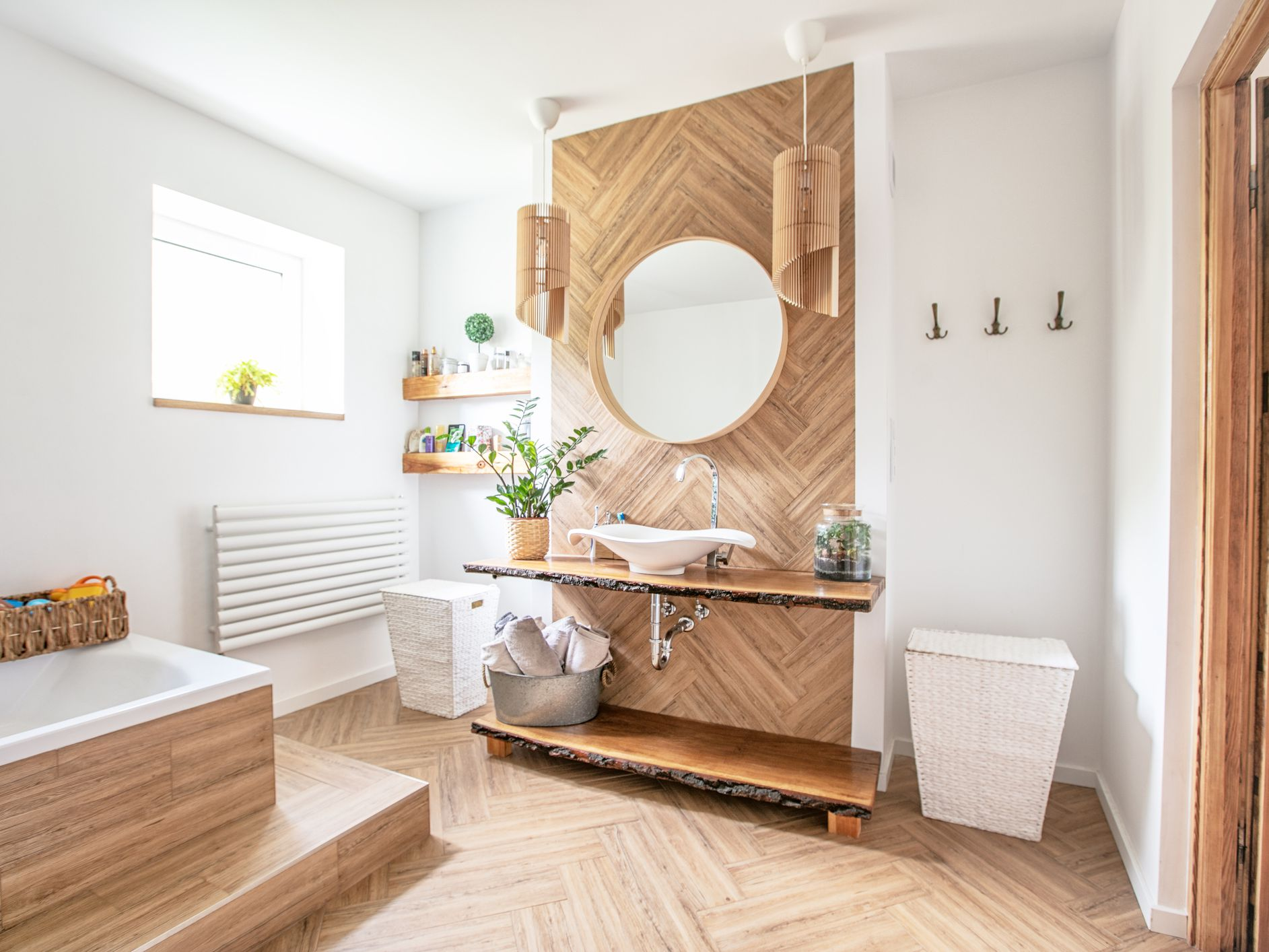 Options For Adding Wood To Any Bathroom Design