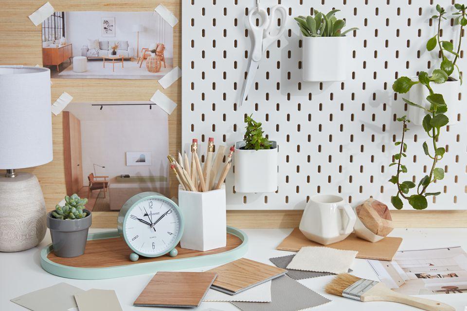 Scandinavian influenced desk scape