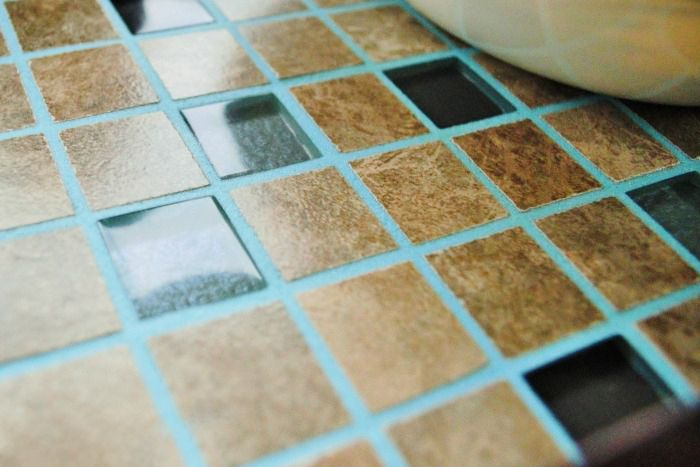 Blue grout natural stone