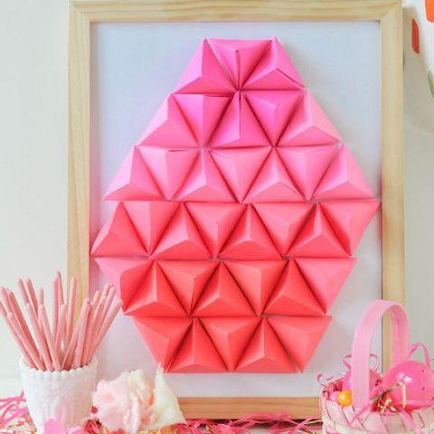 Geometric Paper Easter Egg