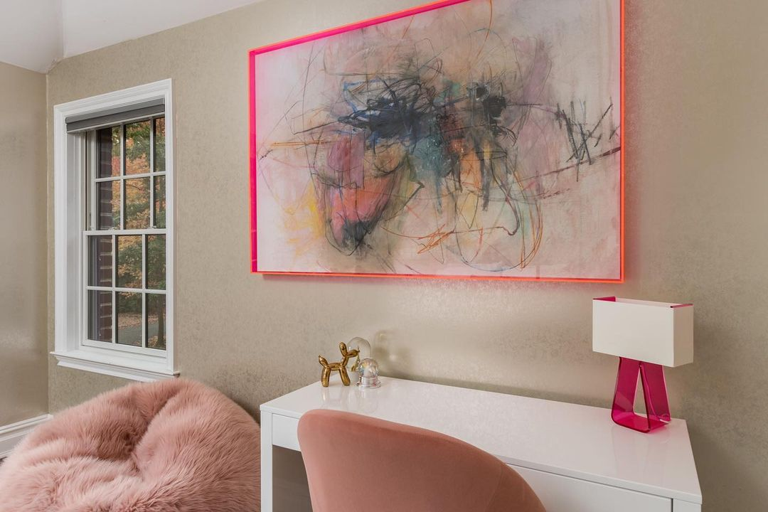 Room with lucite and neon details