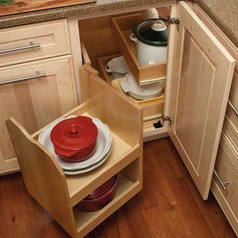 Merillat base cabinet corner swing out