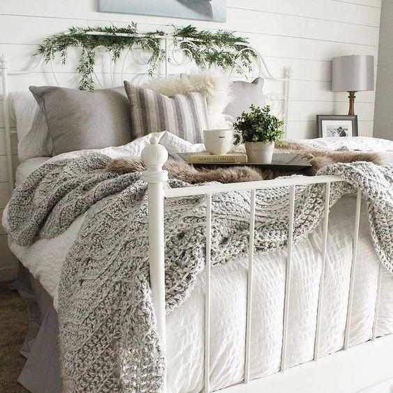 Ivy on bedframe