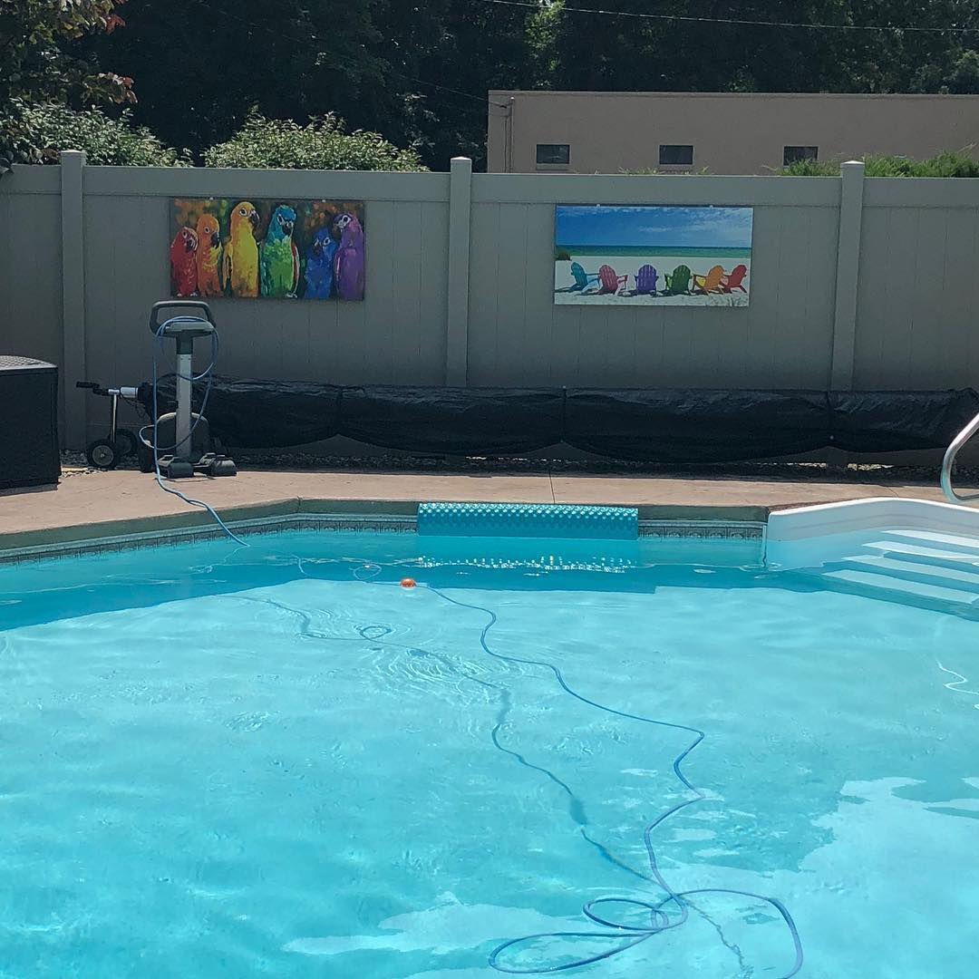 arte de pared exterior para vestir el área de la piscina