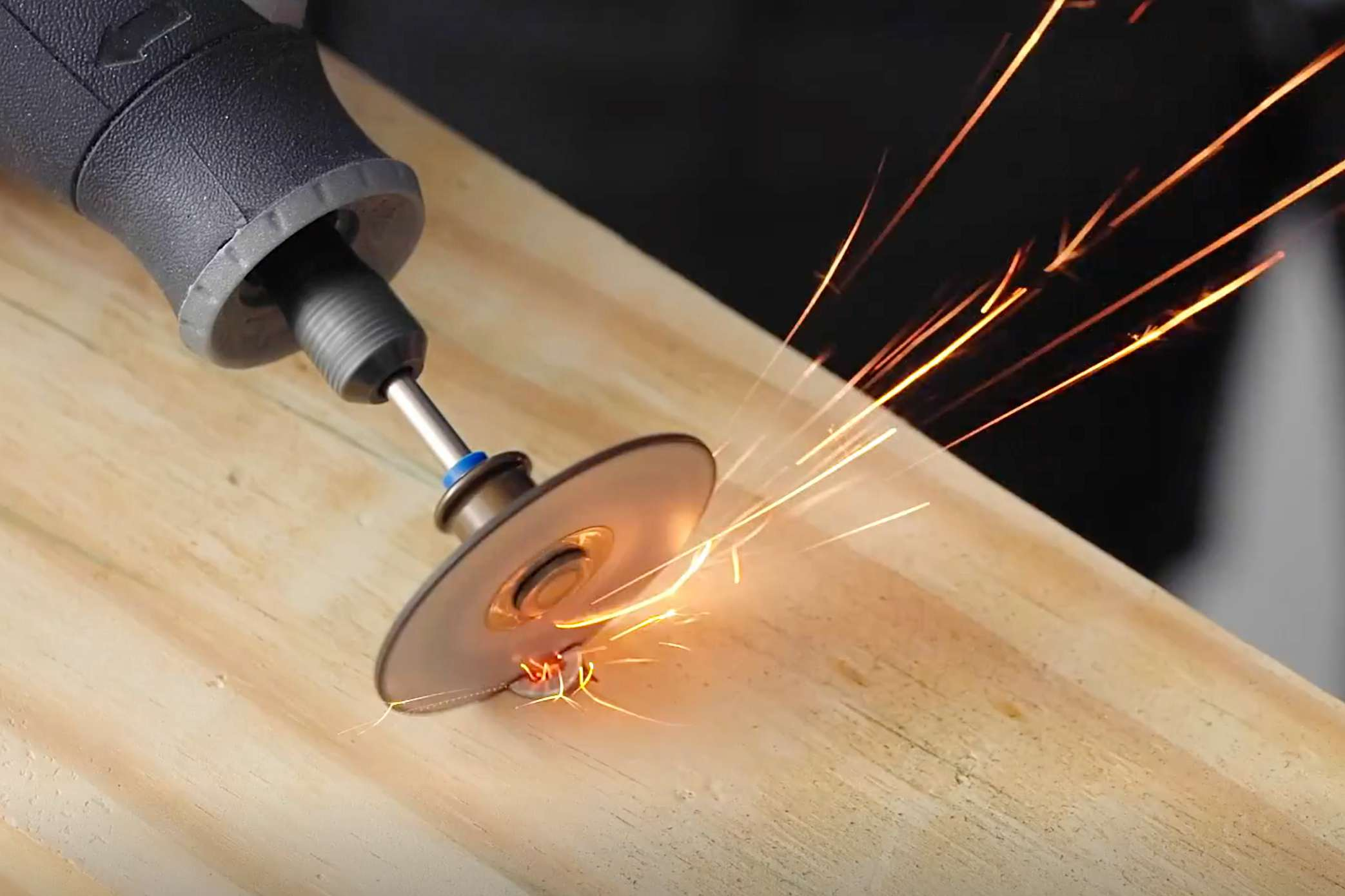 Using a rotary tool to cut a slot in a stripped screw