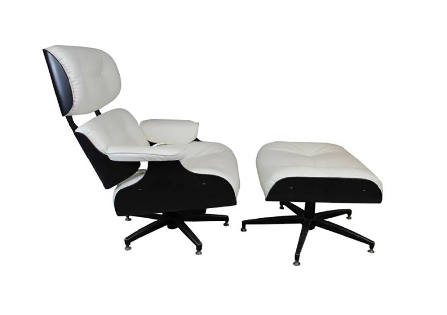 Copy Of Eames Lounge Chair Taller Than An Original And Exhibiting Five Feet On The
