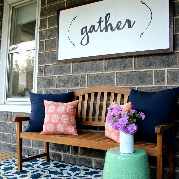 Outdoor decor ideas - DIY porch sign