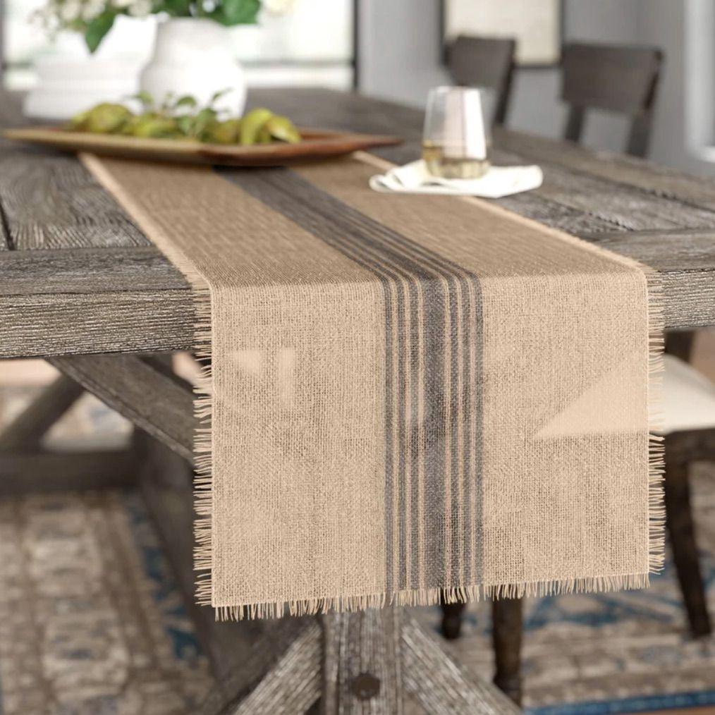 Lavender Table Runner handmade of pure Linen Wedding Table Decor