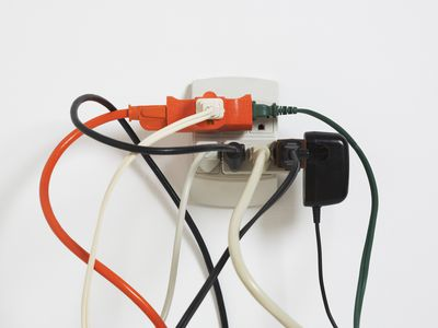 Power cords in outlet