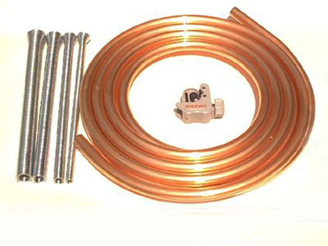 Supplies needed for creating trademark twisted copper decorations