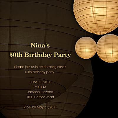 Free birthday invitations online light lanterns on a brown background with birthday details filmwisefo