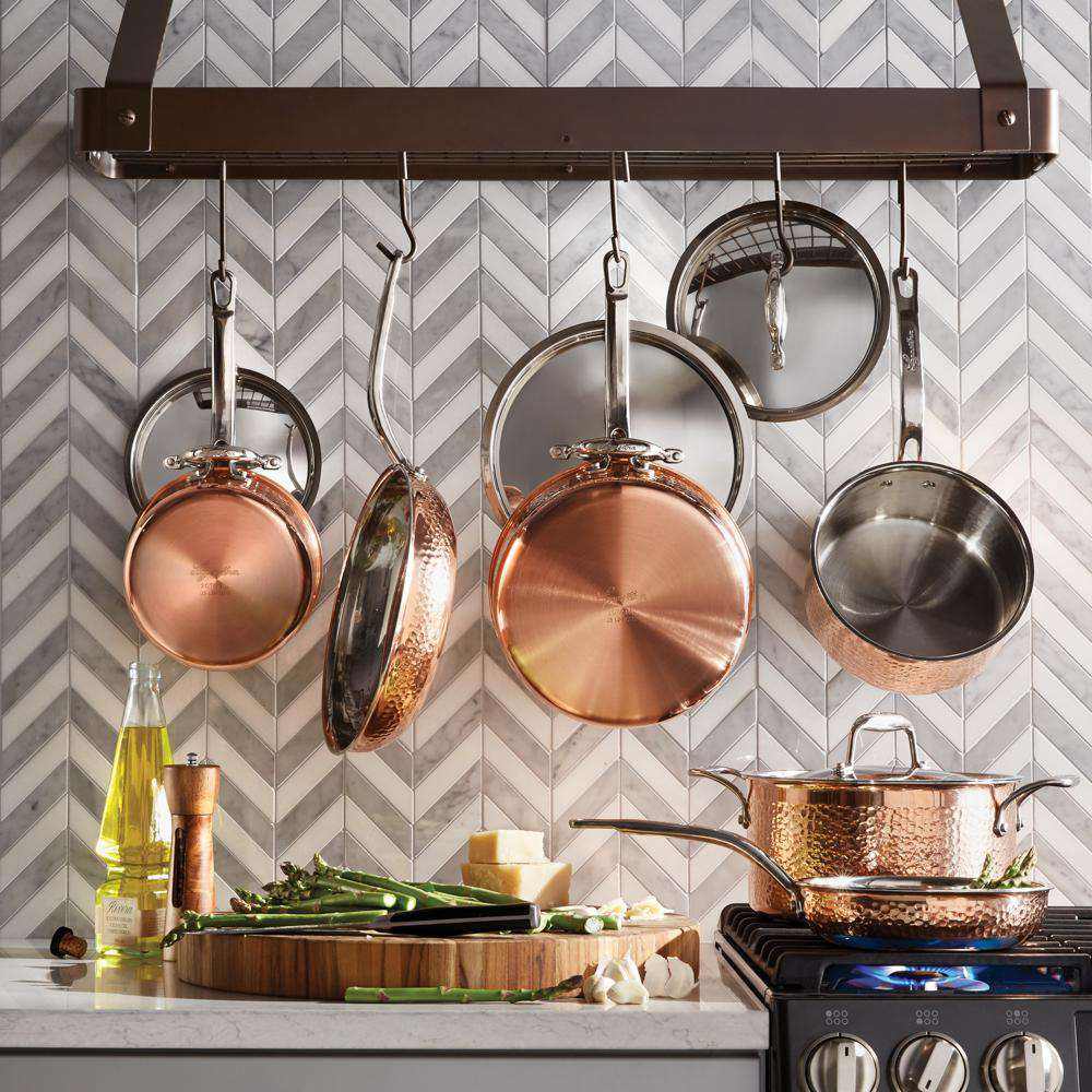 Hook Wall Mount Pot Pan Hanging Rack Kitchen Cookware Storage Organizer Holder