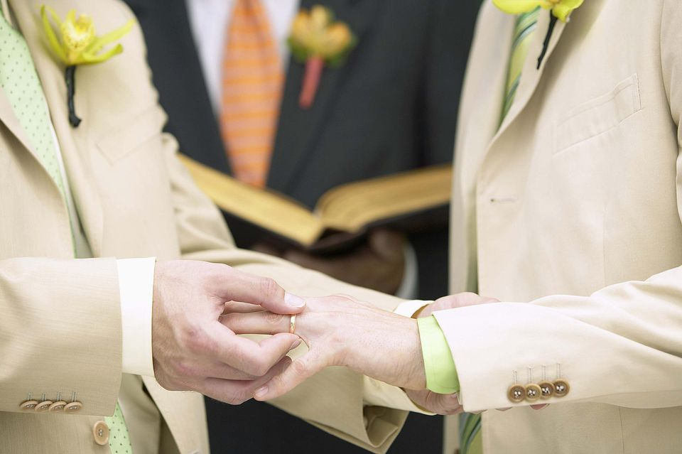 A same-sex commitment ceremony