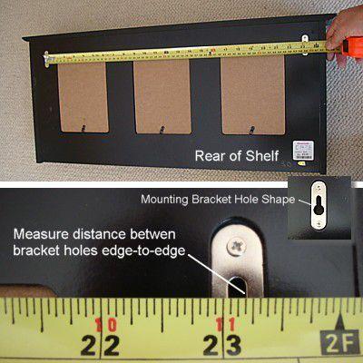 Монтажные отверстия измерительной полки