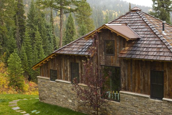 what appears to be a shingled cabin in the woods is really new construction