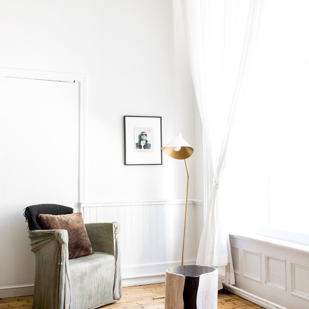 A small chair and coffee table