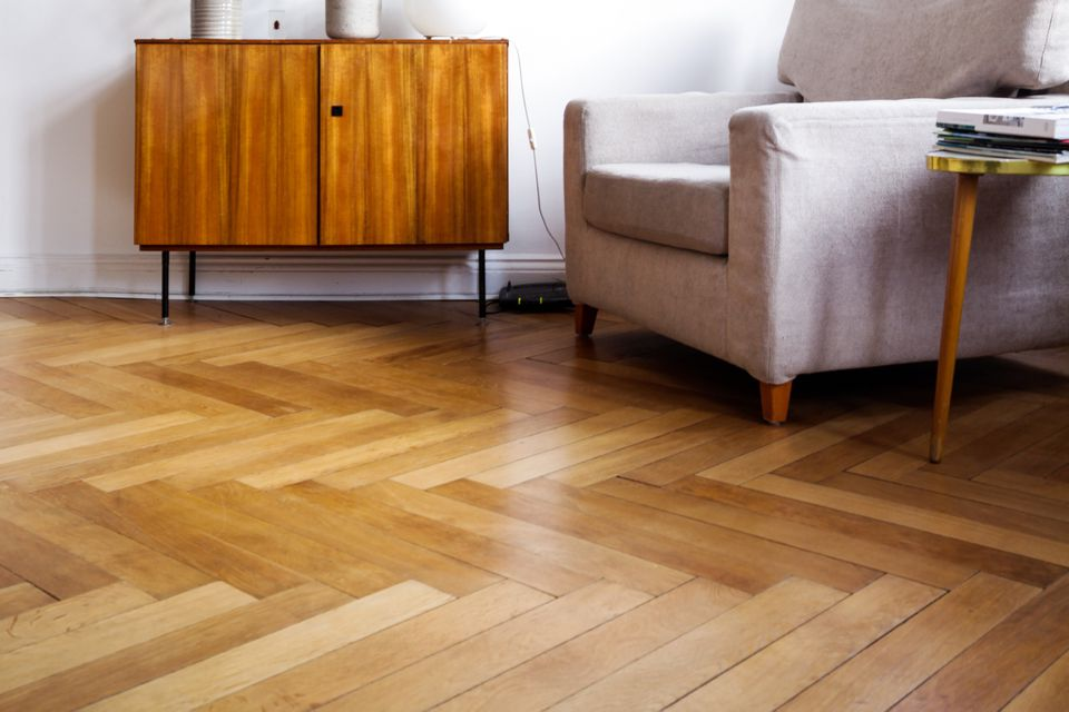 hardwood floors in an apartment