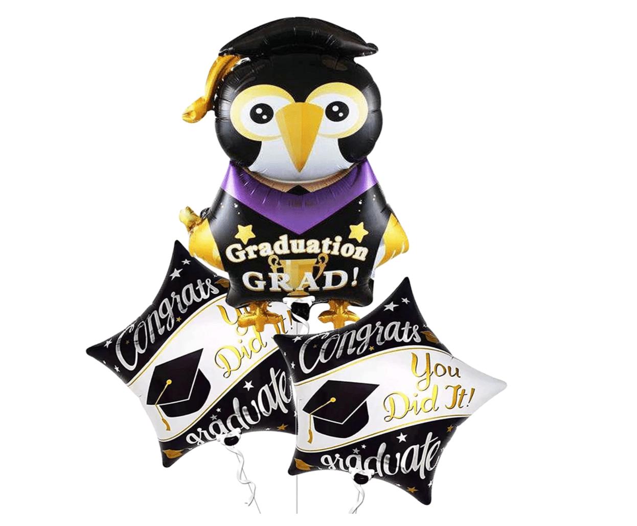 KatchOn Store Penguin Graduation Balloons