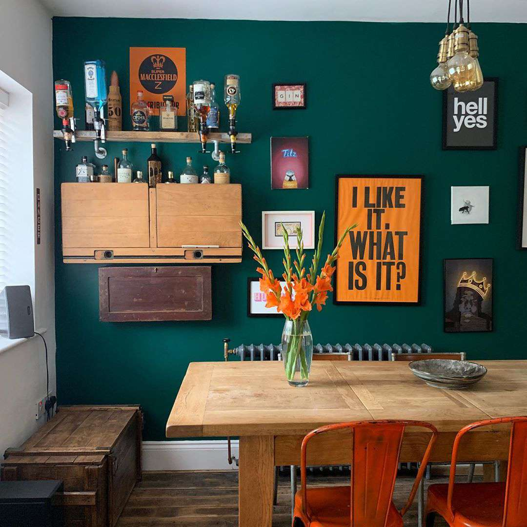 Home bar hanging on the wall