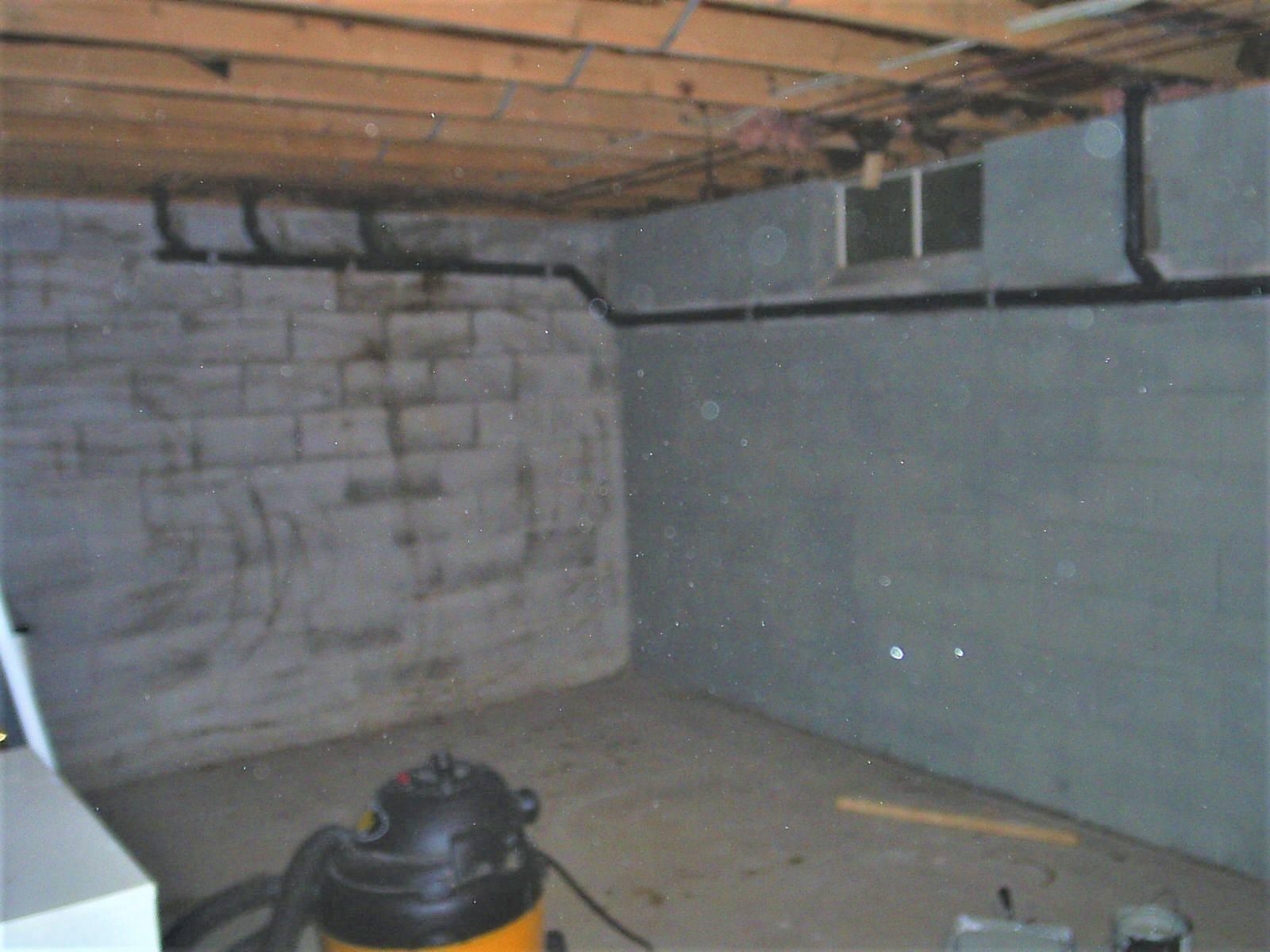 Dark Basement Before Remodeling