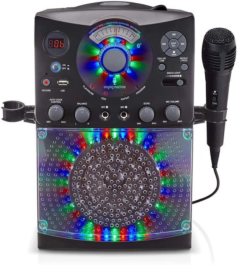 Singing Machine SML385BTBK Bluetooth Karaoke System