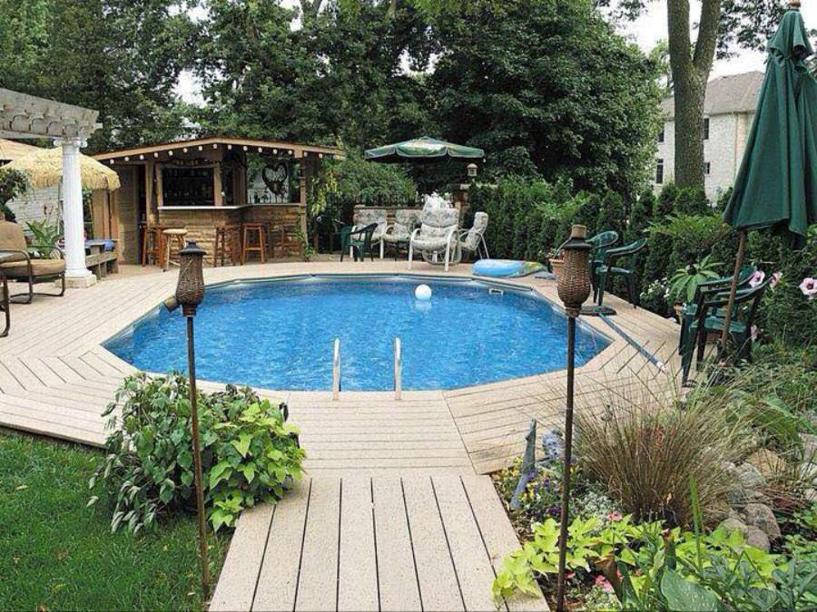 A Doughboy Recessed Style Swimming Pool