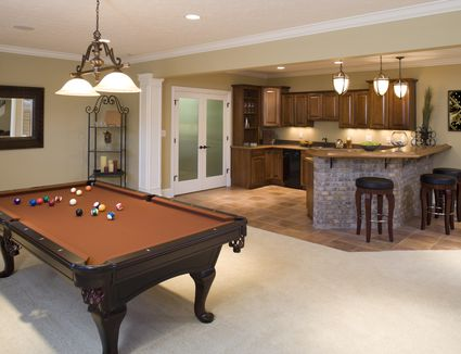 Beautiful Finished Basement Low Ceilings