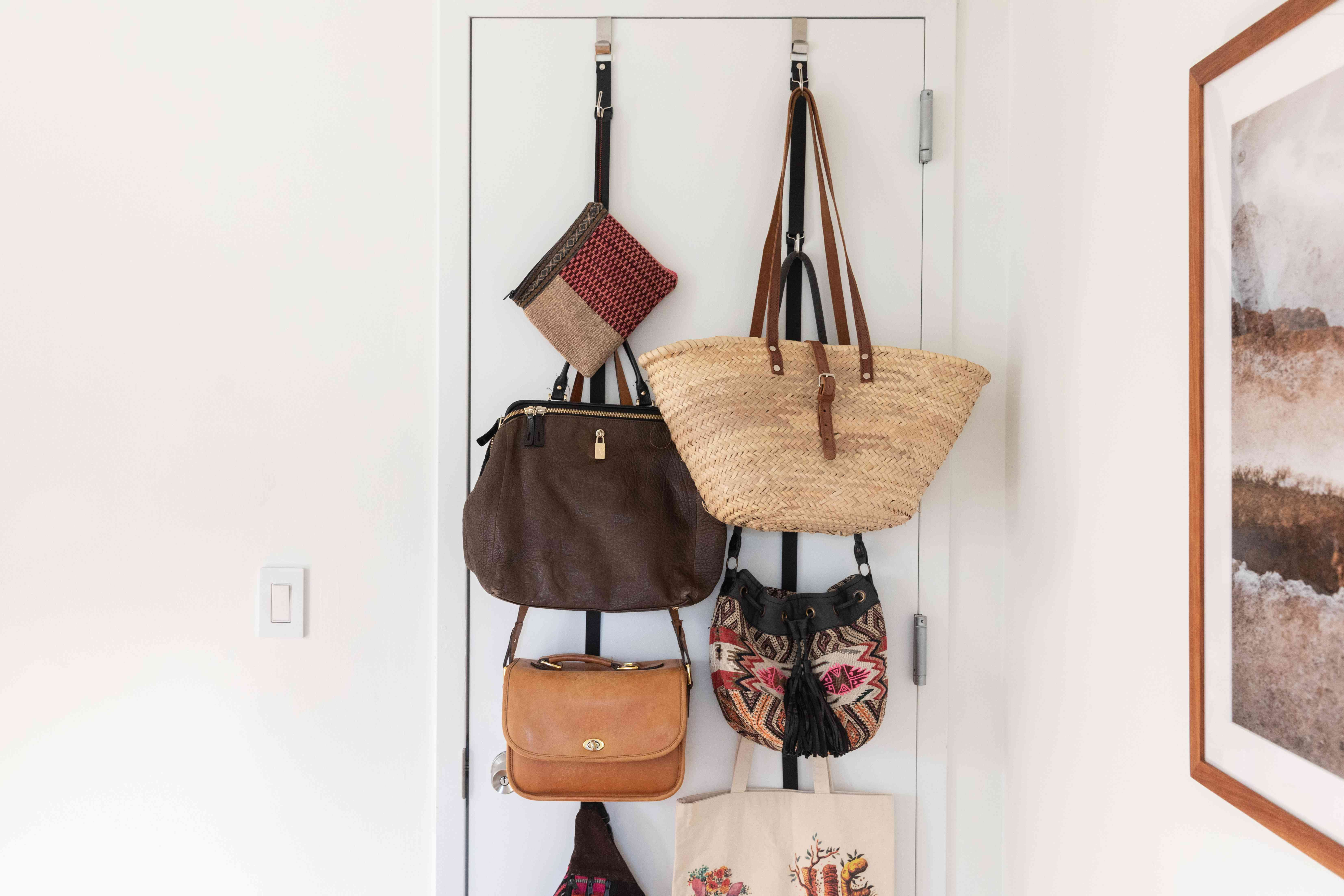 using the back of a door for storage
