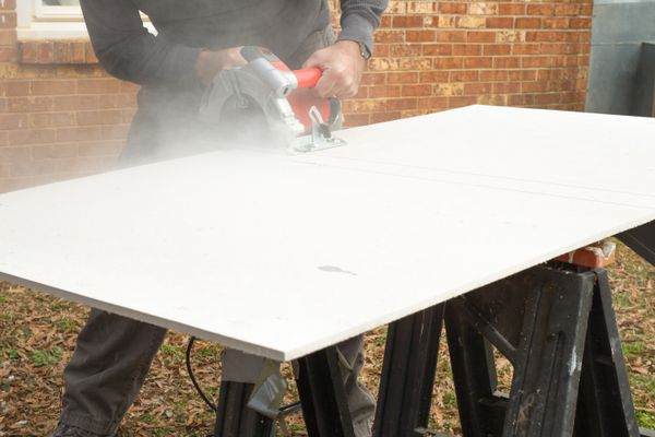 Cutting Cement Board with a Circular Saw