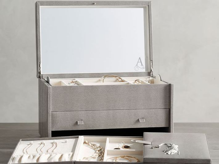 Multi Home Decor  Storage  Organize  Desk  Jewelry  Necklace  Ring  Bedroom Bracelet  Gift  Unique Compartment Box Set