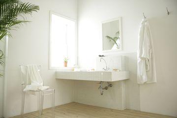 A bathroom sink