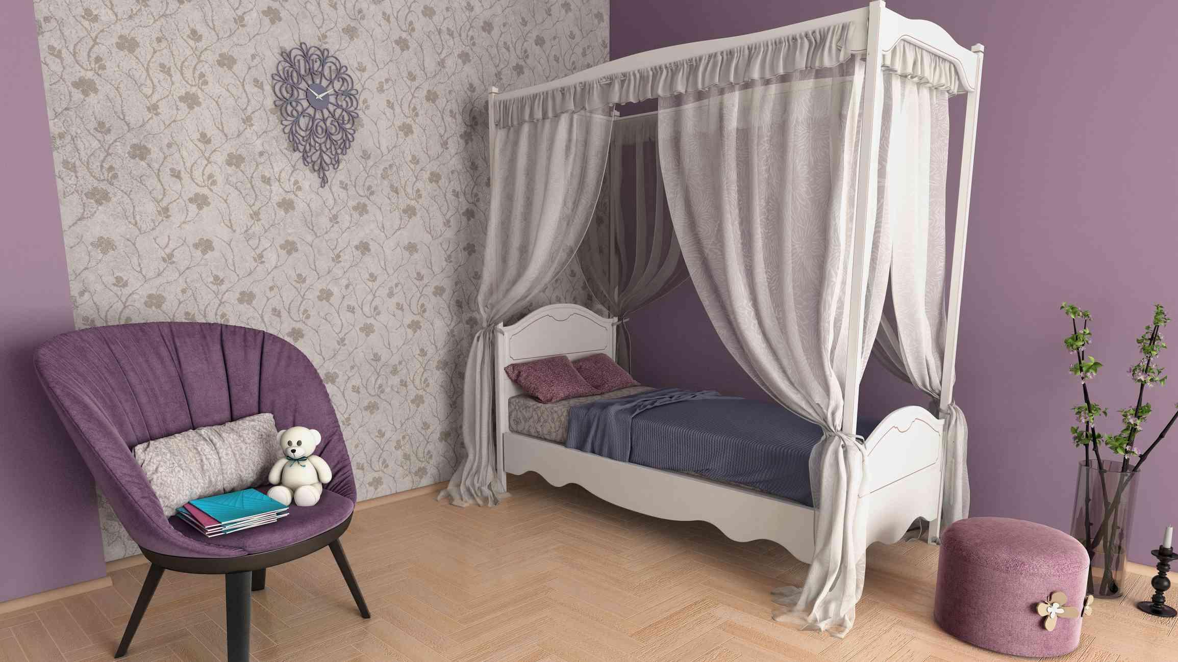 Cute purple girls room