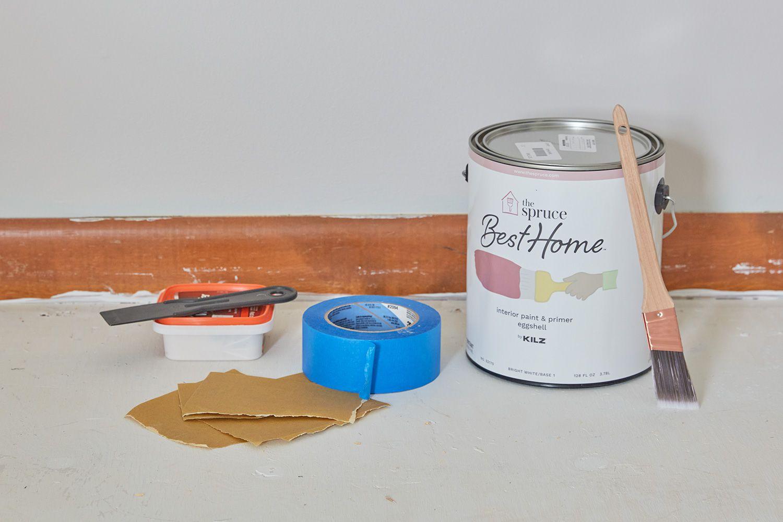 Supplies needed to paint interior window trim