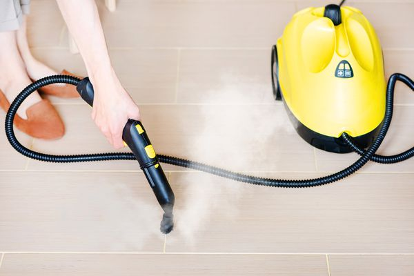 using a steam cleaner on grout