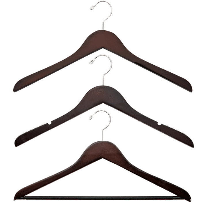Basic Walnut Wooden Hangers